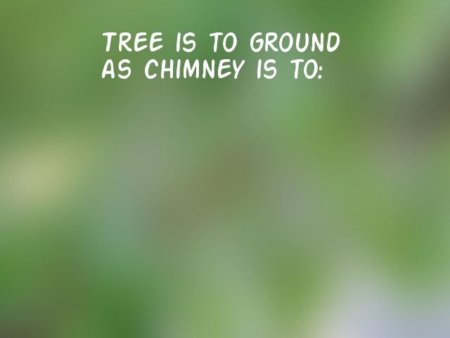 Tree is to ground as chimney is to: