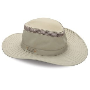 Cool looking ventilated hat that can be rolled up for transportation.