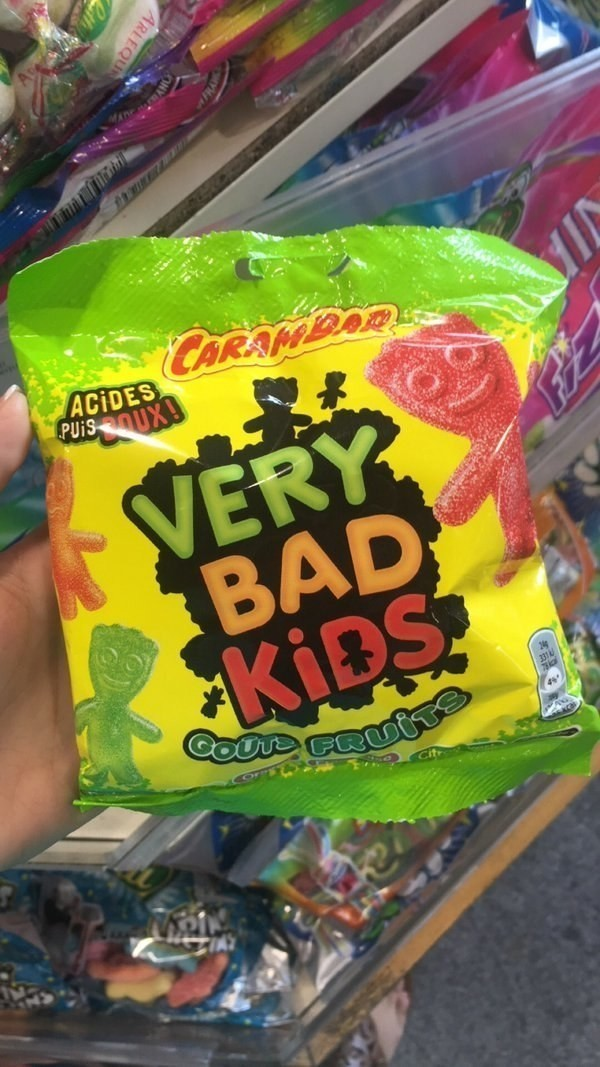 Probably the worst translation for Sour Patch Kids.