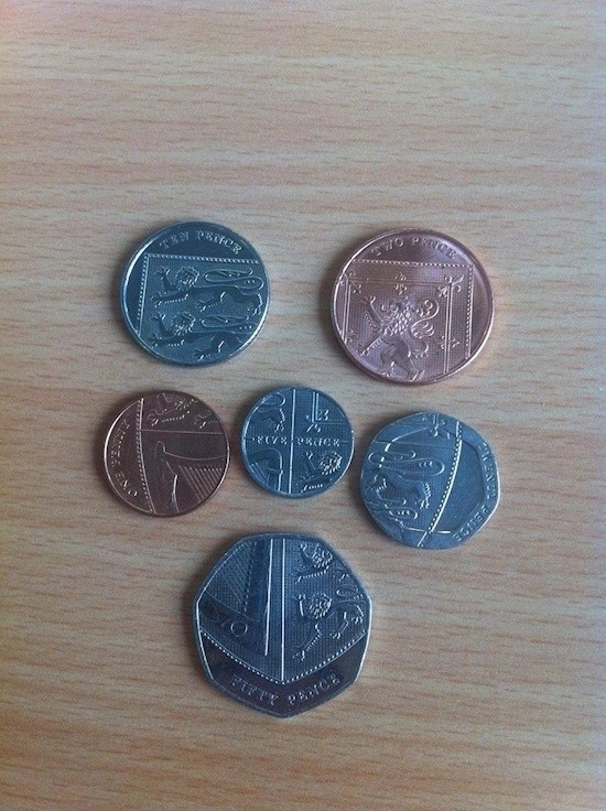 All the picures of the UK coins  are actually a shield.