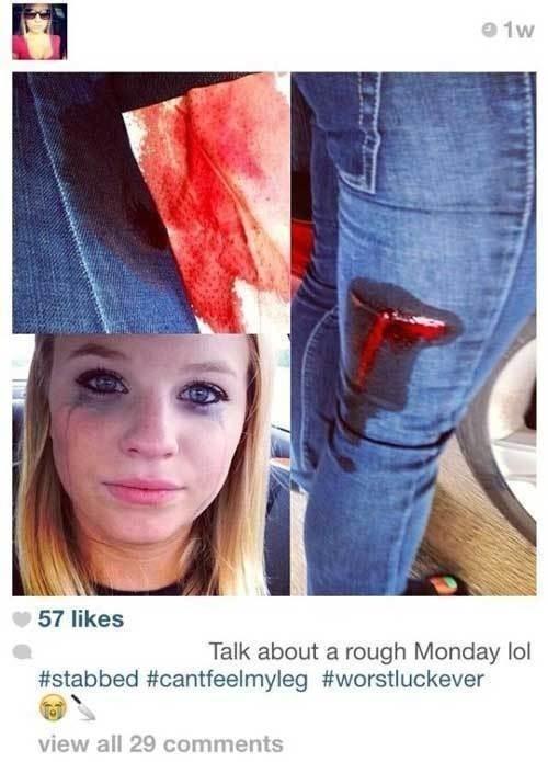 Stabbed? Take a selfie!