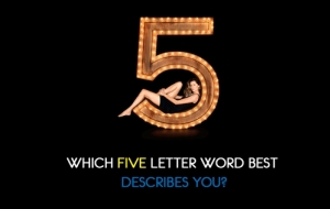 Which five letter word best describes you?