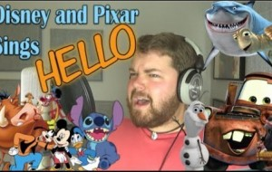 "Watch ONE man singing Adele's ""Hello"" as 30 different characters from cartoons."